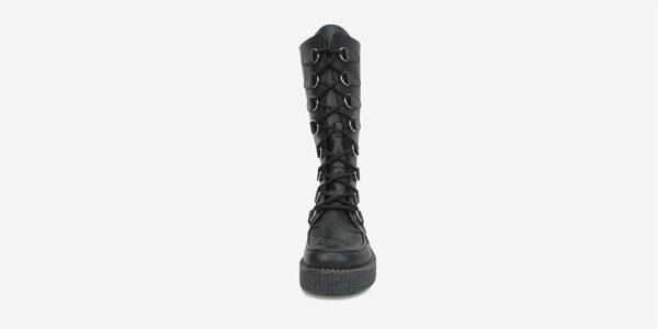 UNDERGROUND ORIGINAL WULFRUN CREEPER HIGH BOOT BLACK LEATHER BOOTS FOR MEN AND WOMEN