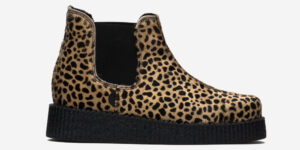 UNDERGROUND CREEPER CHELSEA BOOT – LEOPARD PRINT PONY HAIR – BOOTS FOR MEN AND WOMEN