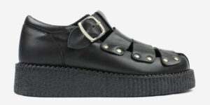 UNDERGROUND CREEPER SANDAL – BLACK LEATHER – SANDALS FOR MEN AND WOMEN