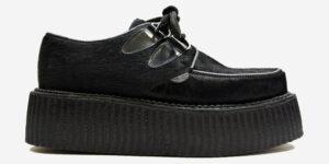 Underground Original Wulfrun Creeper black pony hair shoe for men and women