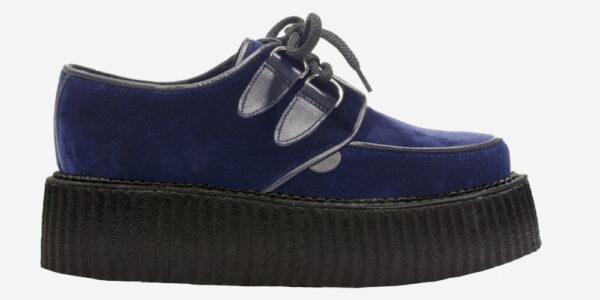 Underground Original Wulfrun Creeper navy velvet shoe for men and women