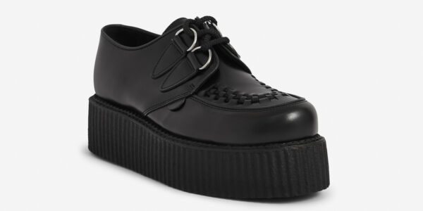 Black Leather Double Sole Wulfrun Creeper