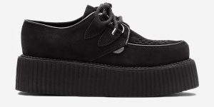BLACK SUEDE CREEPER