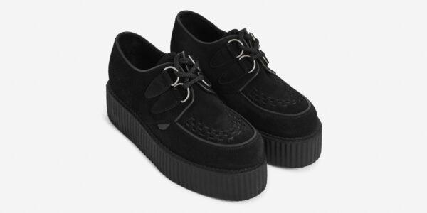 Underground Original Wulfrun Creeper black suede shoe for men and women