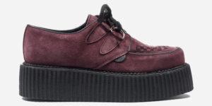 Underground Original Wulfrun Creeper burgundy suede shoe for men and women
