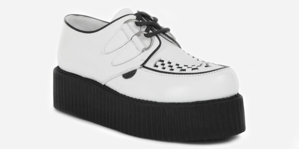 Underground Original Wulfrun Creeper white leather and shoe for men and women