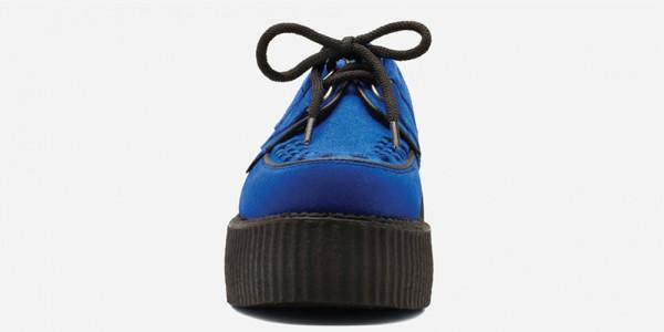 Underground Original Wulfrun Creeper royal blue suede shoe for men and women