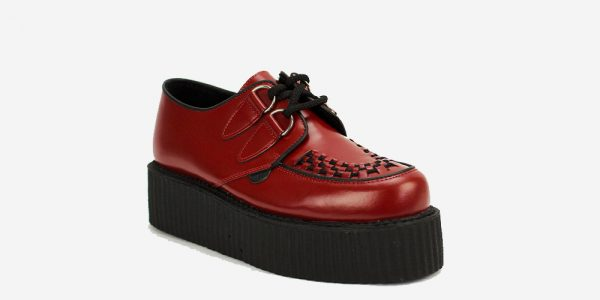 Underground Original Wulfrun Creeper red leather and shoe for men and women