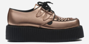 Underground Original Wulfrun Creeper metallic leather gold shoe for men and women
