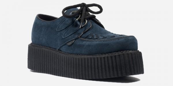 Underground Original Wulfrun Creeper teal suede shoe for men and women
