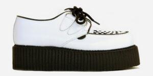 white leather Wulfrun double sole