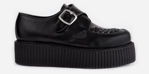 king tut creeper - black leather