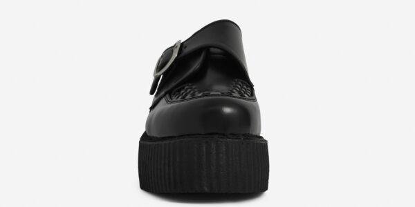 Underground Original King Tut Creeper Black leather buckle shoe for men and women
