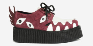 Underground Original Snapper Wulfrun Creeper burgundy and off white suede shoe for men and women