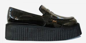 Original Underground creeper loafer black patent hi-shine leather shoe for Men and Women
