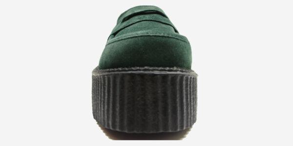 Original Underground creeper loafer dark green suede leather shoe for Men and Women