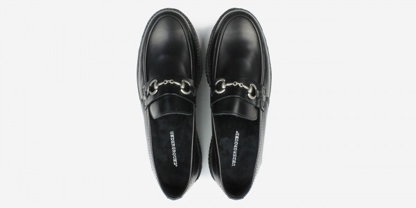 Original Underground Snaffle creeper loafer black leather shoe for Men and Women