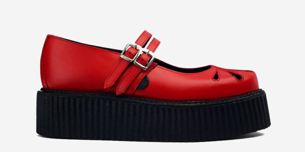 Underground England Mary Jane red grain leather shoe for men and women