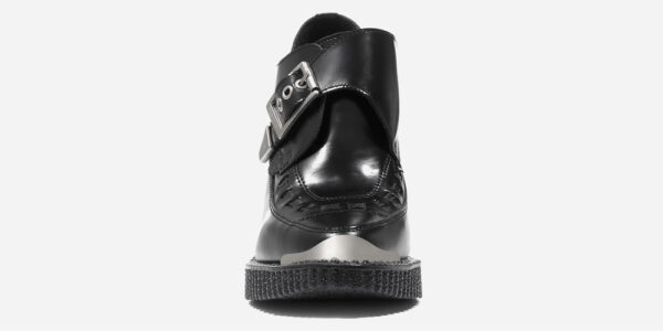 Underground England Marquee Blitz Boot black leather heeled shoe with buckle for men and women