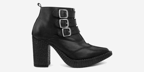 Underground England Marquee blitz Boot black leather shoe with 3 buckles for men and women