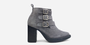 Underground England Marquee blitz Boot grey suede leather shoe with 3 buckles for men and women