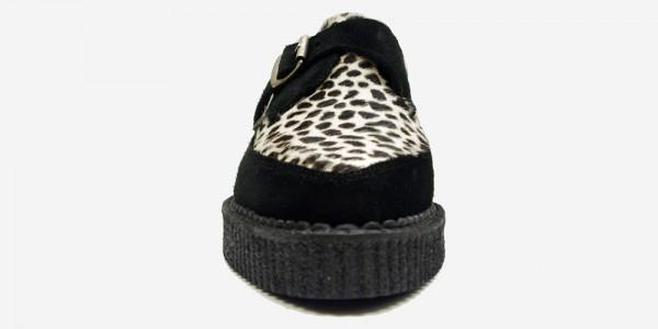Underground Original Apollo Creeper black suede and leopard buckle shoe for men and women