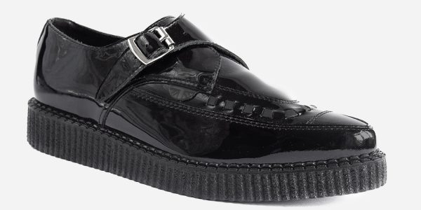 black patent pointed creeper