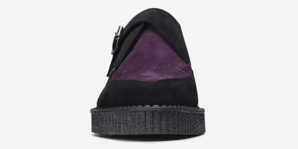 Underground Original Apollo Creeper black and purple suede buckle shoe for men and