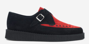 Underground Original Apollo Creeper black and red suede buckle shoe for men and