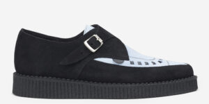 Underground Original Apollo Creeper black and sky blue suede buckle shoe for men and