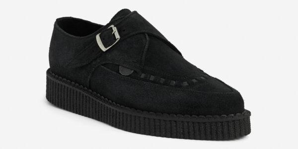 Underground Original Apollo Creeper black suede buckle shoe for men and