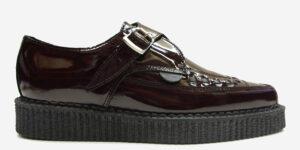 Underground Original Apollo Creeper burgundy patent leather buckle shoe for men and