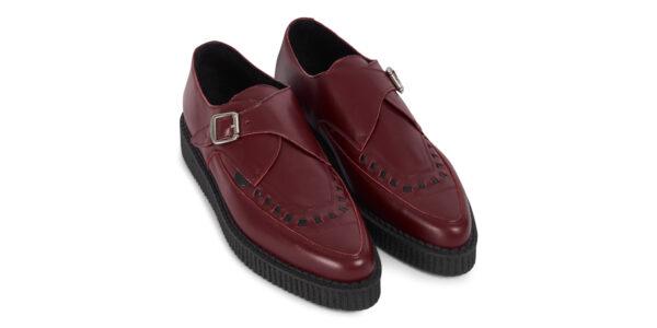 Underground Original Apollo Creeper burgundy grain leather buckle shoe for men and