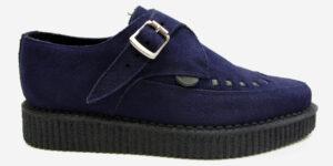 Underground Original Apollo Creeper navy suede buckle shoe for men and