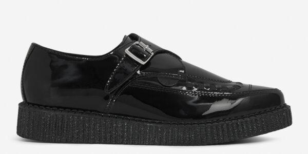 Underground Original Apollo Creeper black patent leather buckle shoe for men and