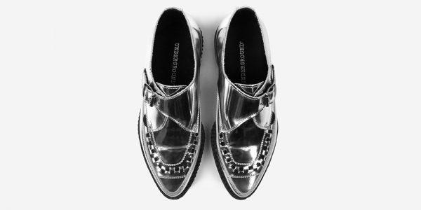 Underground Original Apollo Creeper silver mirror leather buckle shoe for men and