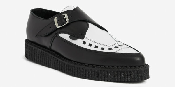 Underground Original Apollo Creeper black and white leather buckle shoe for men and
