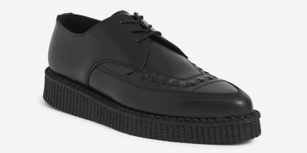 Barfly Creeper Black Leather