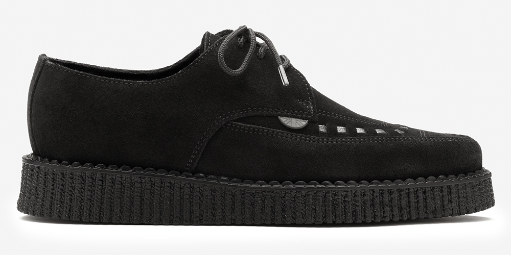 Barfly Creeper - Black Suede