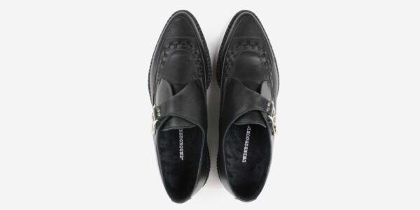 Underground Original Apollo Creeper Black premium leather buckle shoe for men and women