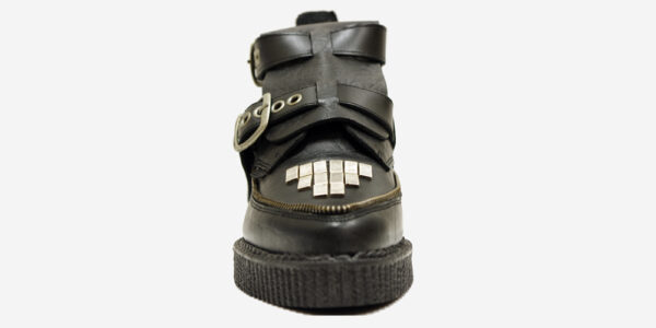 Underground Original Bowie black croc embossed leather boot for men and women