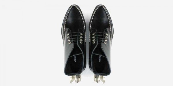Underground Original Barfly black leather with nickel spikes boot for men and women