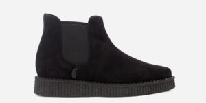 Underground England Meteor creeper black suede chelsea boot for men and women