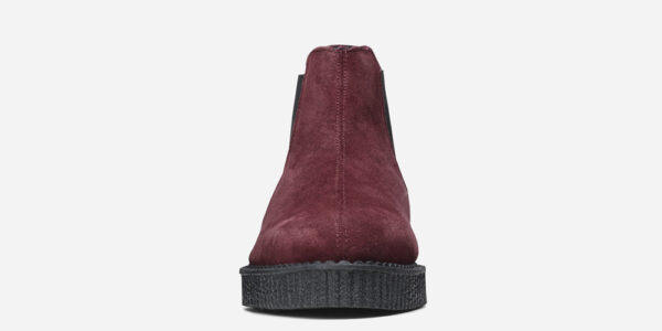 Underground England Meteor creeper burgundy suede chelsea boot for men and women