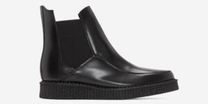 Undergroung England Chelsea creeper black leather boot for men and women
