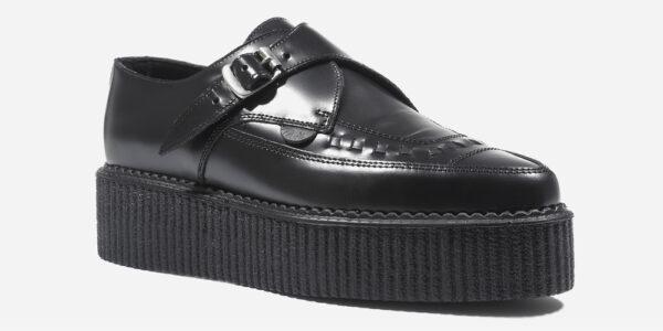 Underground Original Apollo Creeper black leather buckle shoe for men and women