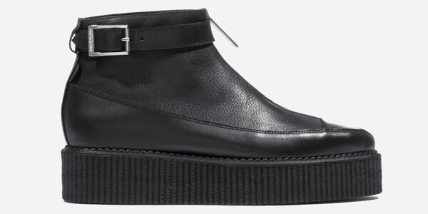 Underground Original Bowie Creeper boot black leather with zip boot for men and women