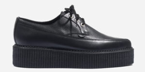 Underground Original Barfly Creeper in black leather and black tumbled leather for men and women