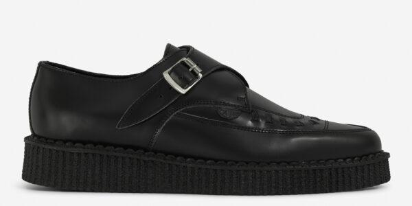 Underground Original Apollo Creeper black leather buckle shoe for men and