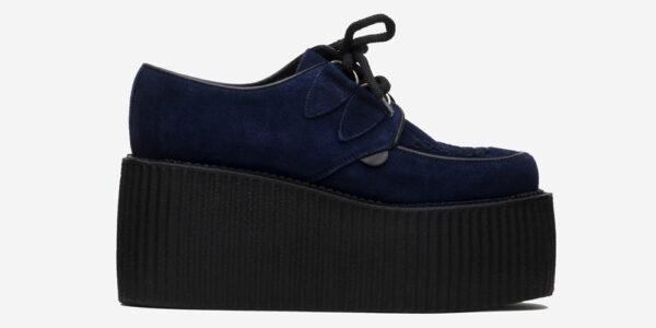 Underground Original Wulfrun Creeper navy suede leather shoe for men and women
